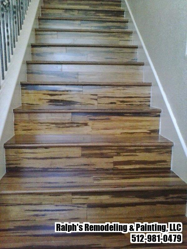 Carpet stairs converted to wood floor